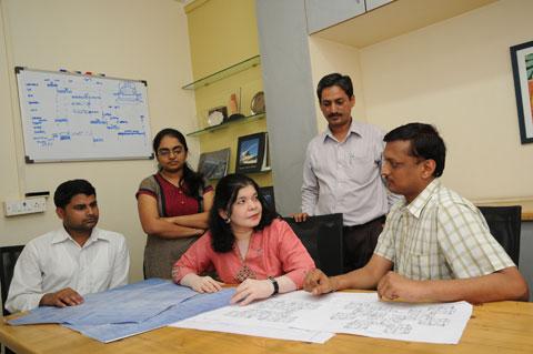 Vakil Mehta Sheth engineers at a Meeting
